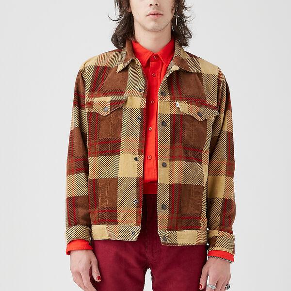 Levi's® Vintage Clothing Plaid Corduroy Trucker Jacket