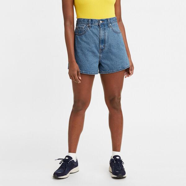 High Loose Denim Shorts