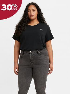 Cropped Jordie T-shirt (Plus Size)