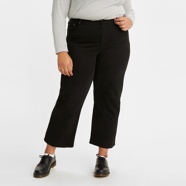 Ribcage Straight Ankle Jeans (Plus size)