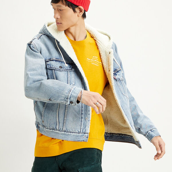 Hooded Sherpa Trucker Jacket