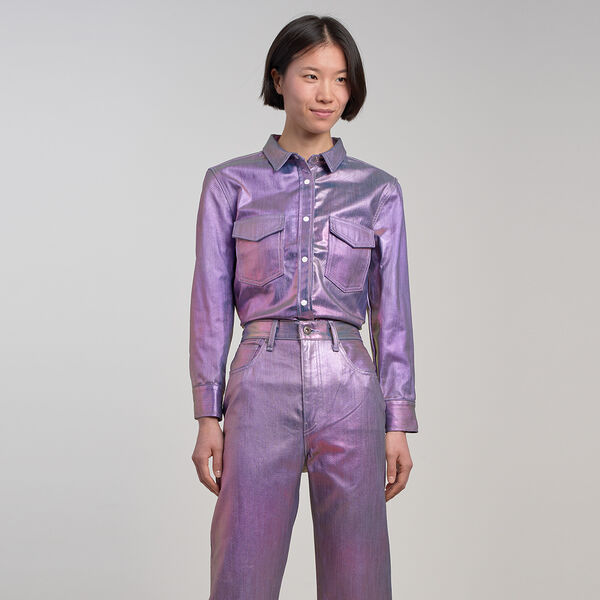 Levi's® Made & Crafted® Metallic Shrunken Denim Shirt