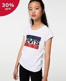 Big Girls (S-XL) Sportswear Logo Graphic Tee