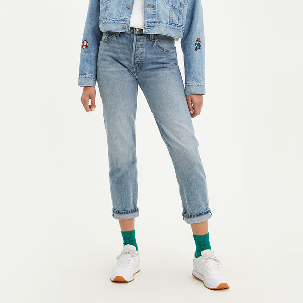 Levi's® X Super Mario™ 501® Original Cropped Selvedge Jeans