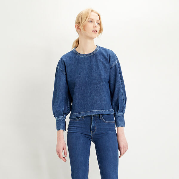 Begonia Denim Blouse