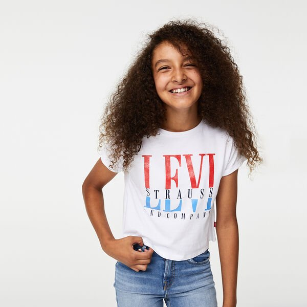 Big Girls (S-XL) Graphic Cropped Tee