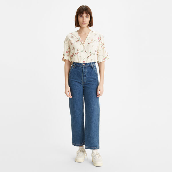 Ribcage Straight Ankle Utility Jeans
