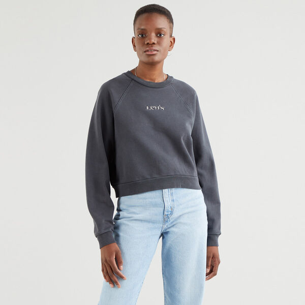 Vintage Garment-Dye Raglan Crewneck Sweatshirt