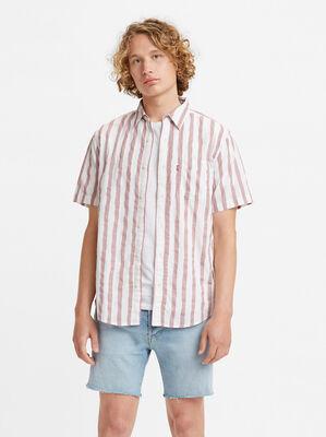 Denim Short Sleeve Sunset 1 Pocket Shirt