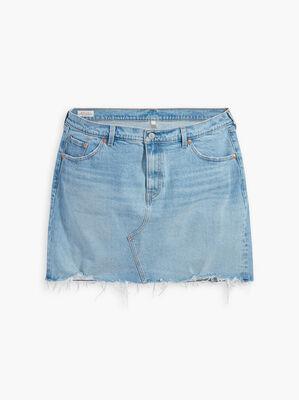 Deconstructed Denim Skirt (Plus Size)