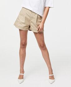 Pleated Utility Shorts