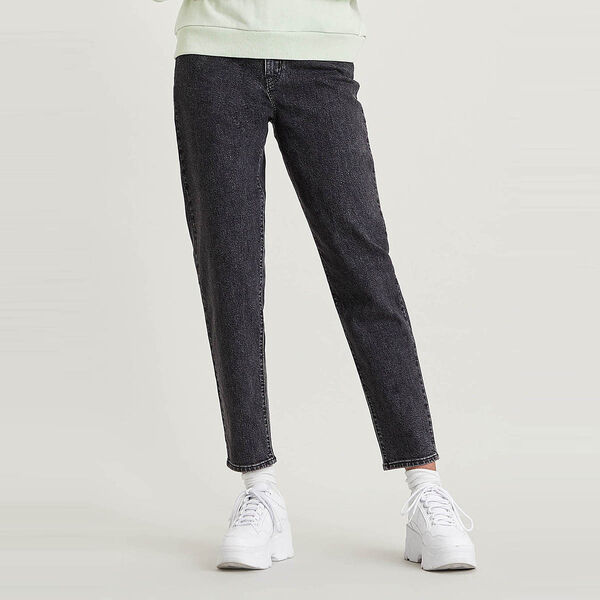High Waisted Taper Jeans