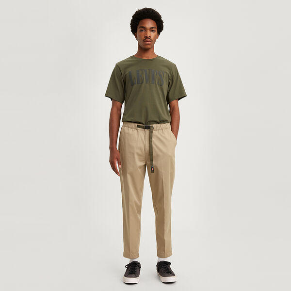 Pull On Crop Loose Taper Chino