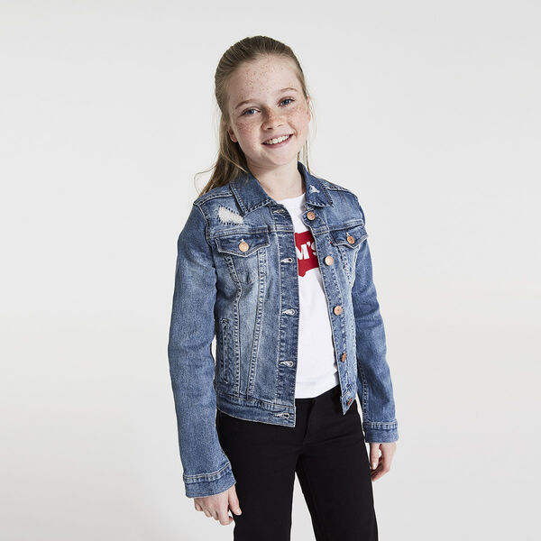 Girls 7-16 Trucker Jacket