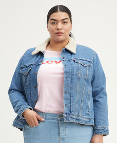 Ex-Boyfriend Sherpa Trucker Jacket (Plus Size)