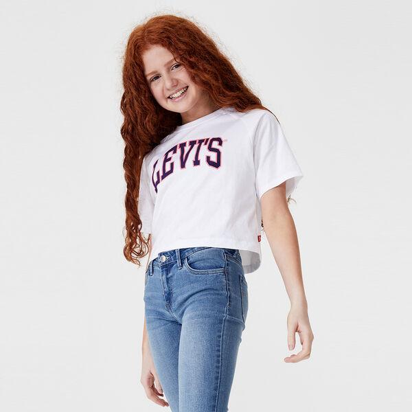 Girls Cropped Raglan T-Shirt