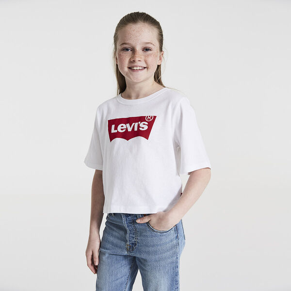 Big Girls (S-XL) Batwing Cropped Tee