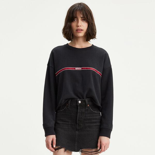 Graphic Raw Cut Hem Sweatshirt