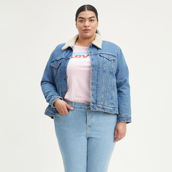 Ex-Boyfriend Sherpa Trucker Jacket (Plus Size)
