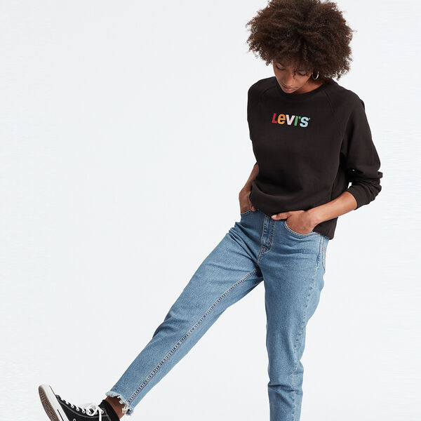 Relaxed Graphic Crewneck Sweatshirt