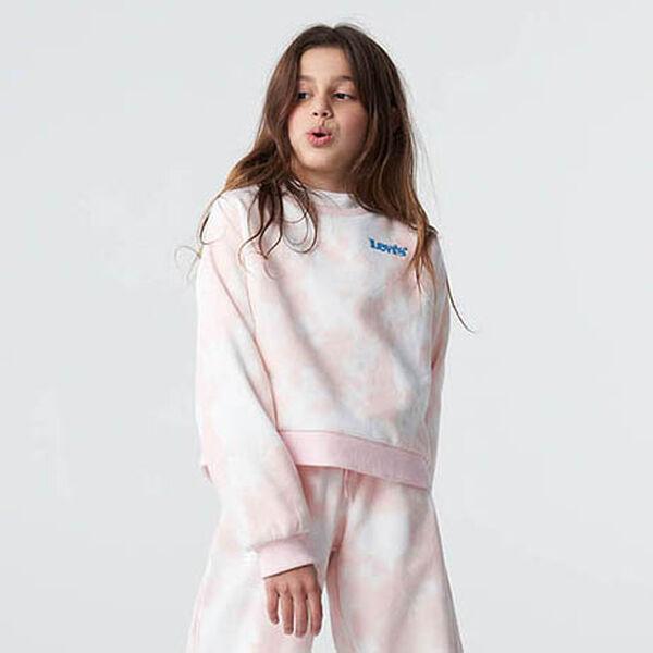 Girls Tie Dye Crew Sweatshirt