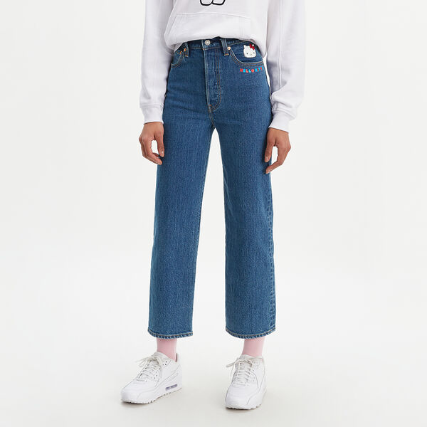 Levi's® x Hello Kitty® Ribcage Straight Ankle Jeans