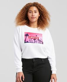 Levi's® Logo Relaxed Crew Neck Sweatshirt (Plus Size)