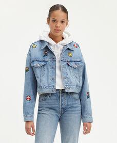 Levi's® X Super Mario™ Cropped Dad Trucker Jacket