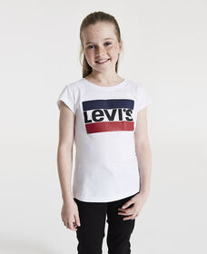 Big Girls (S-XL) Sportswear Logo Graphic Tee