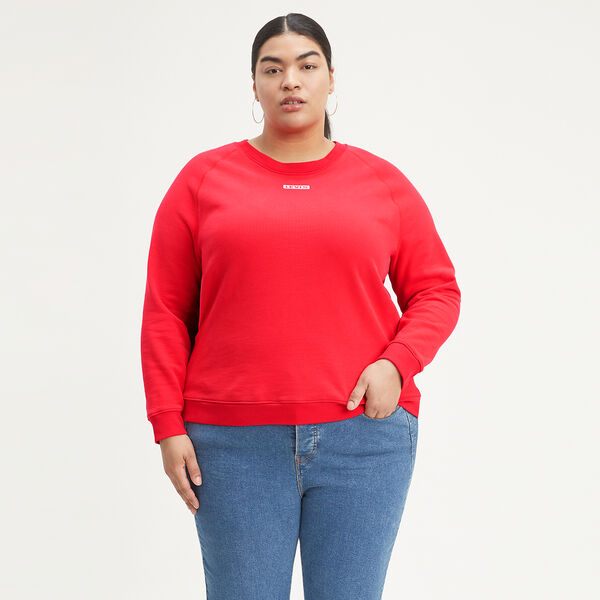 Relaxed Crewneck Sweatshirt (Plus Size)