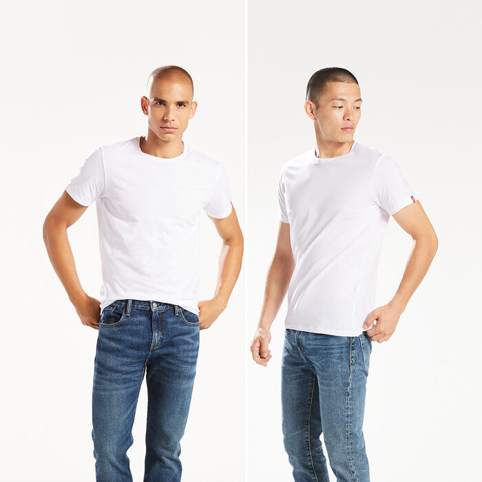 Slim Fit Crewneck Tees (2‑pack)