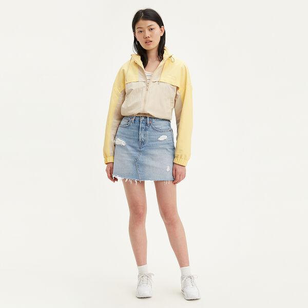 High Rise Deconstructed Button Fly Skirt
